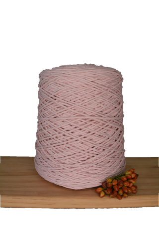 1kg Coloured 1ply Cotton Warping String - 1.5mm - Softest Pink