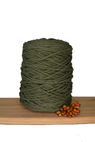 1kg Coloured 1ply Cotton String - 4mm - Khaki