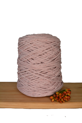 1kg Coloured 1ply Cotton String - 4mm - Mushroom Pink