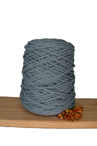 1kg Coloured 1ply Cotton String - 4mm - Storm