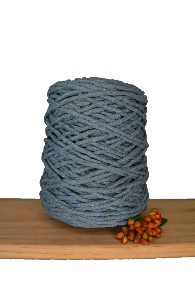 1kg Coloured 1ply Cotton String - 5mm - Storm Grey
