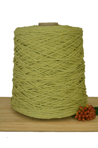 1kg Coloured 1ply Cotton Warping String - 1mm - Avocado