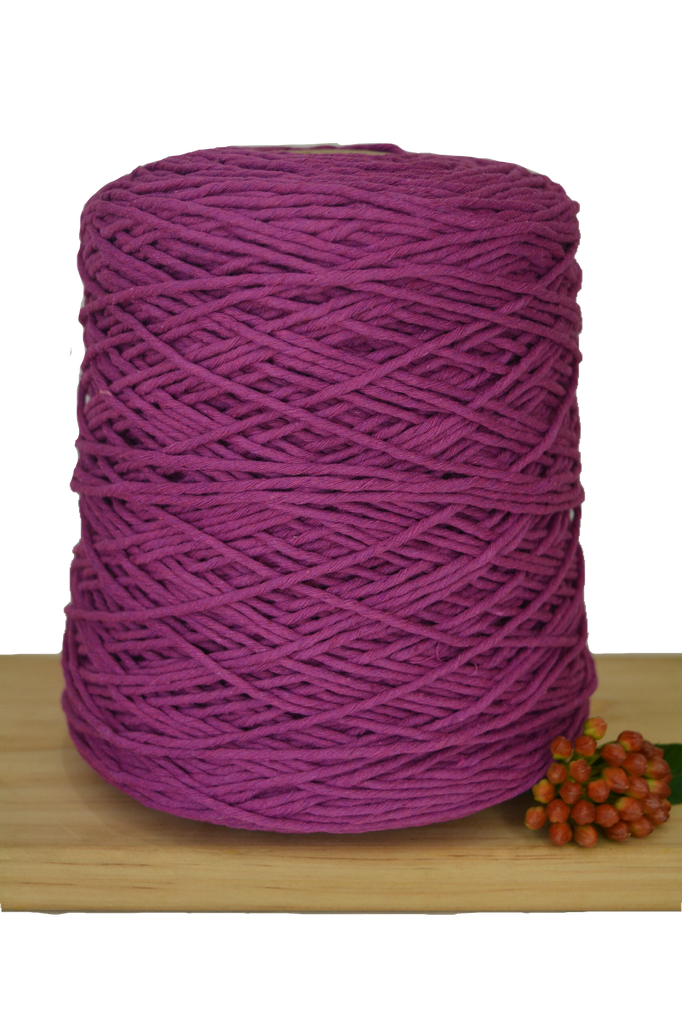 1kg Coloured 1ply Cotton Warping String - 1.5mm - Berrylicious