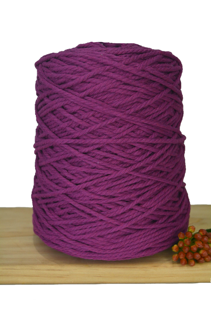 1kg Coloured 3 ply Cotton Rope - 3mm - Berrylicious