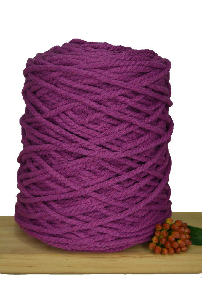 1kg Coloured 3 ply Recycled Cotton Rope - 5mm - Berrylicious