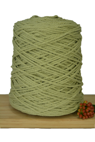1kg Coloured 3 ply Cotton Rope - 3mm - Citrine