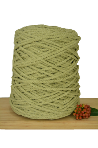 1kg Coloured 3 ply Recycled Cotton Rope - 5mm - Citrine