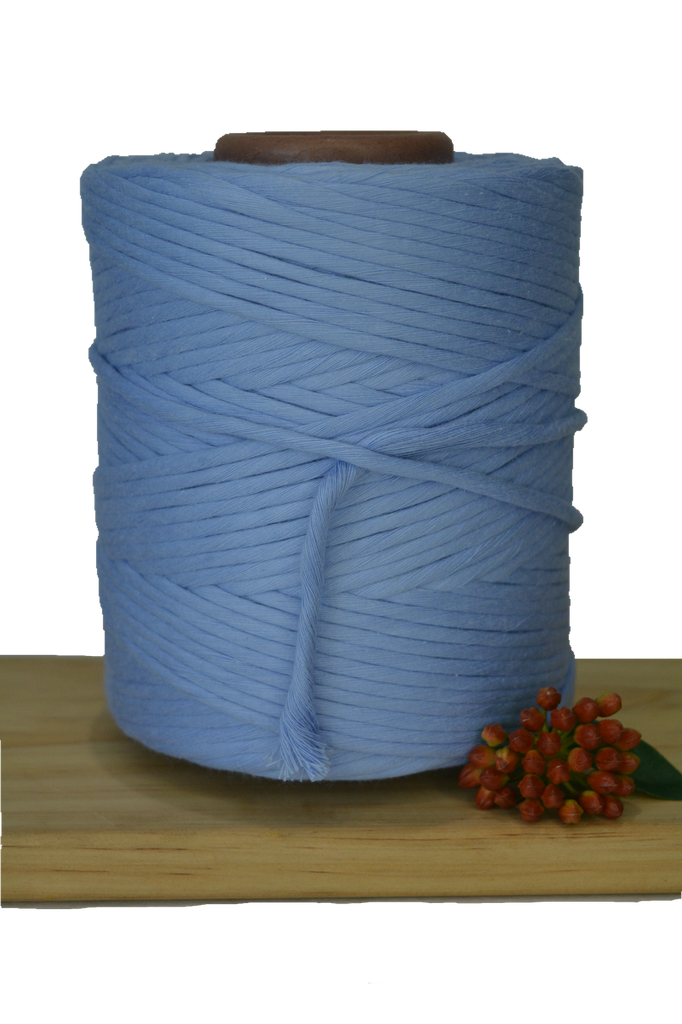 1kg 5mm 100% Pure Deluxe Cotton 1ply String - Brummera Blue