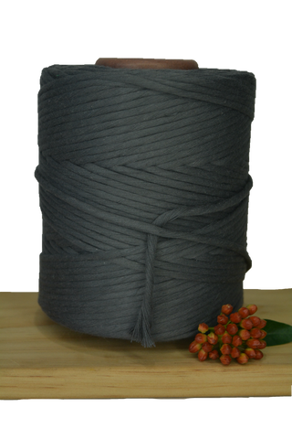 1kg 5mm 100% Pure Deluxe Cotton 1ply String - Charcoal