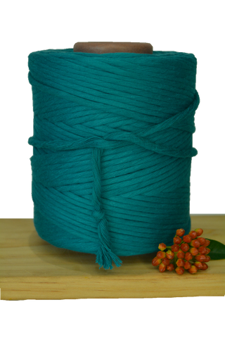 1kg 5mm 100% Pure Deluxe Cotton 1ply String - Harbour Blue