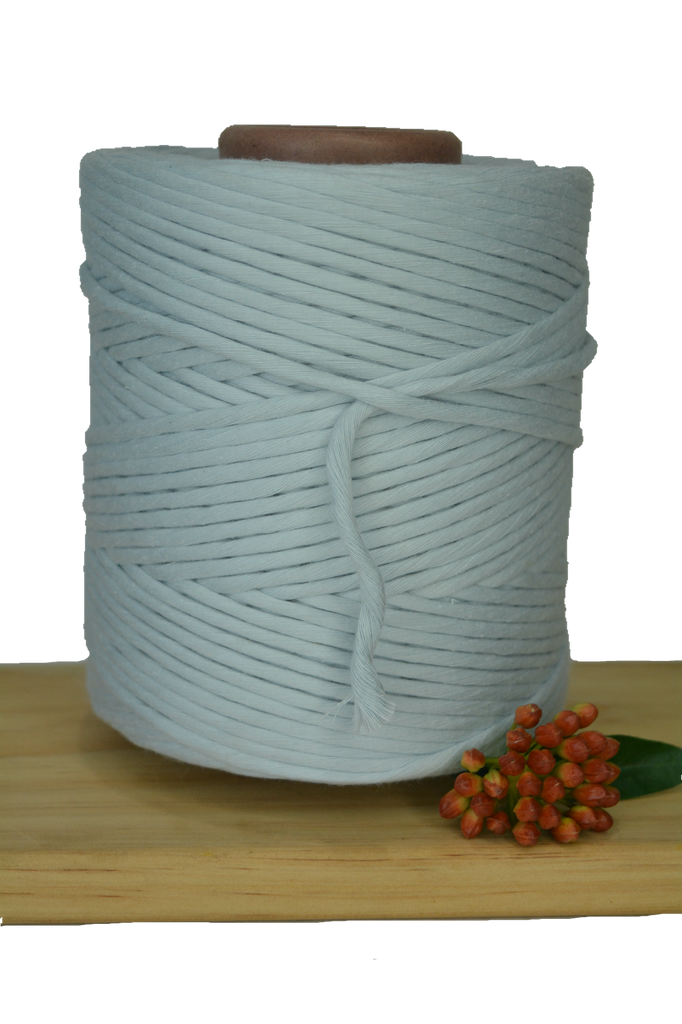 1kg 5mm 100% Pure Deluxe Cotton 1ply String - Ice Flow