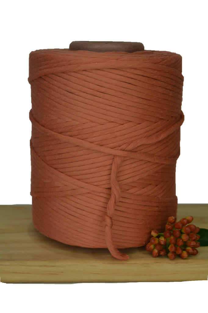 1kg 5mm 100% Pure Deluxe Cotton 1ply String - Orange Rust