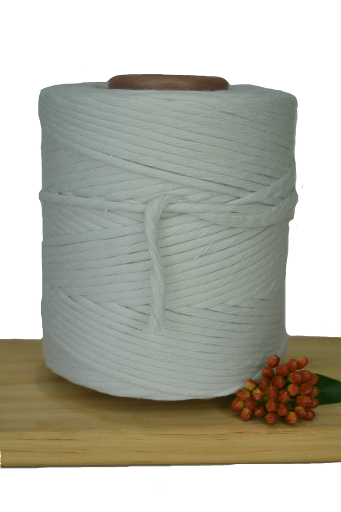 1kg 5mm 100% Pure Deluxe Cotton 1ply String - Oyster