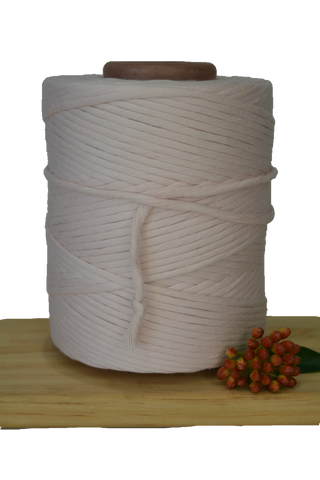 1kg 5mm 100% Pure Deluxe Cotton 1ply String - Peach Dust