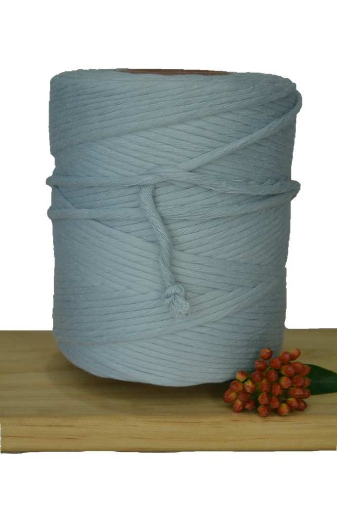 1kg 5mm 100% Pure Deluxe Cotton 1ply String - Pearl Blue