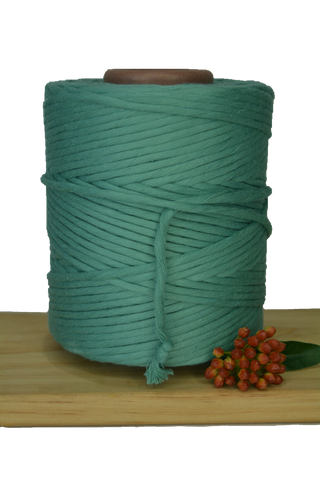 1kg 5mm 100% Pure Deluxe Cotton 1ply String - Peppermint