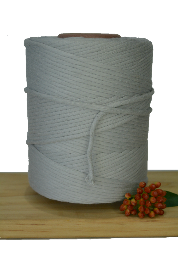 1kg 5mm 100% Pure Deluxe Cotton 1ply String - Silver Cloud