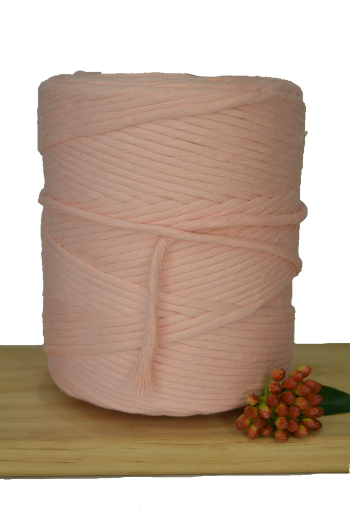 1kg 5mm 100% Pure Deluxe Cotton 1ply String - Tropical Peach