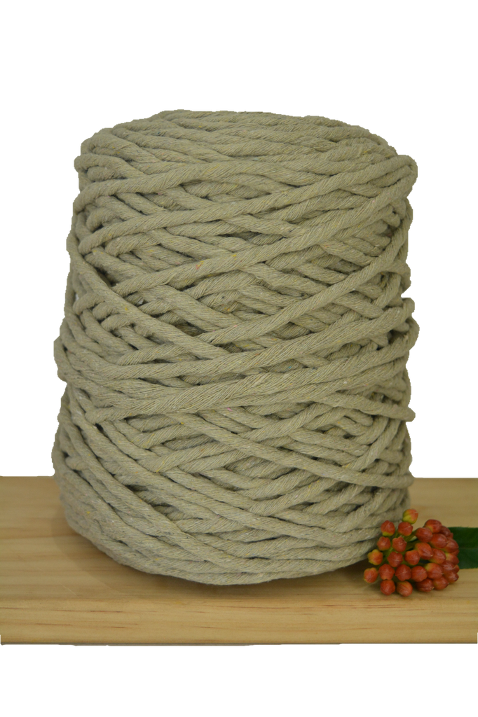 1kg Coloured 1ply Recycled Cotton String - 5mm - Dove