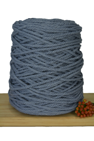 1kg Coloured 3 ply Cotton Rope - 3mm - Graphite