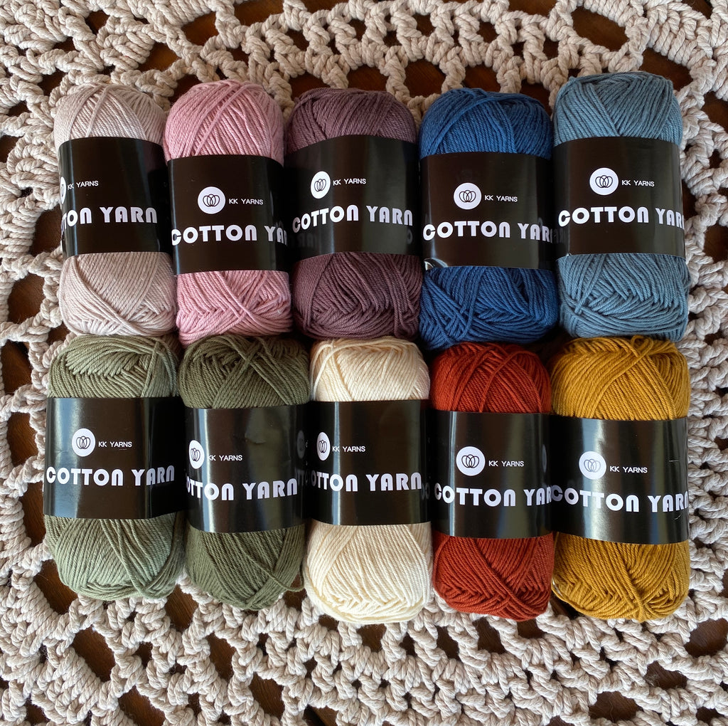 "Cotton Yarn - MIXED PACK OF 10 - ""Multi"""