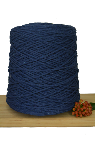 1kg Coloured 1ply Cotton Warping String - 1.5mm - Ink