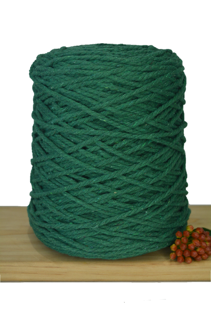 1kg Coloured 3 ply Cotton Rope - 3mm - Jade