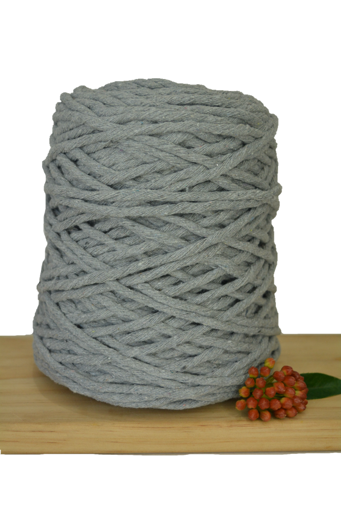 1kg Coloured 1ply Cotton String - 5mm - Light Grey