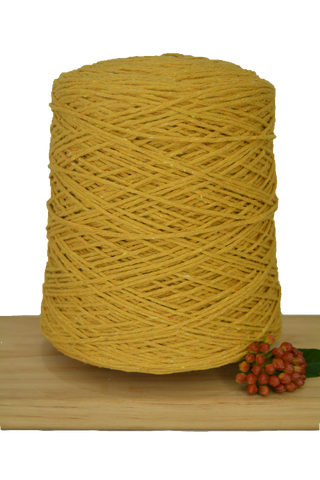 1kg Coloured 1ply Cotton Warping String - 1mm - Mustard