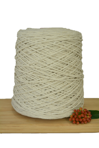 1kg Natural 1ply Cotton Warping String - 1.5mm