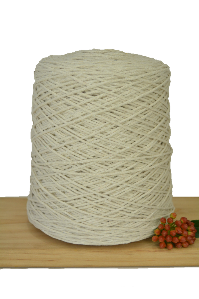 1kg Natural 1ply Cotton Warping String - 1mm
