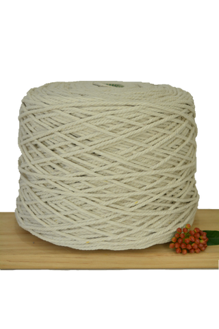 2.5kg Natural 3ply Cotton Rope 4mm