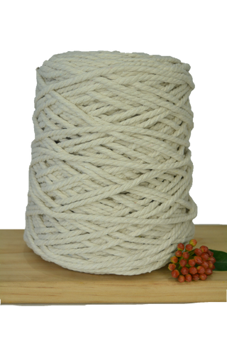 1kg Natural 3ply Cotton Rope - 5mm
