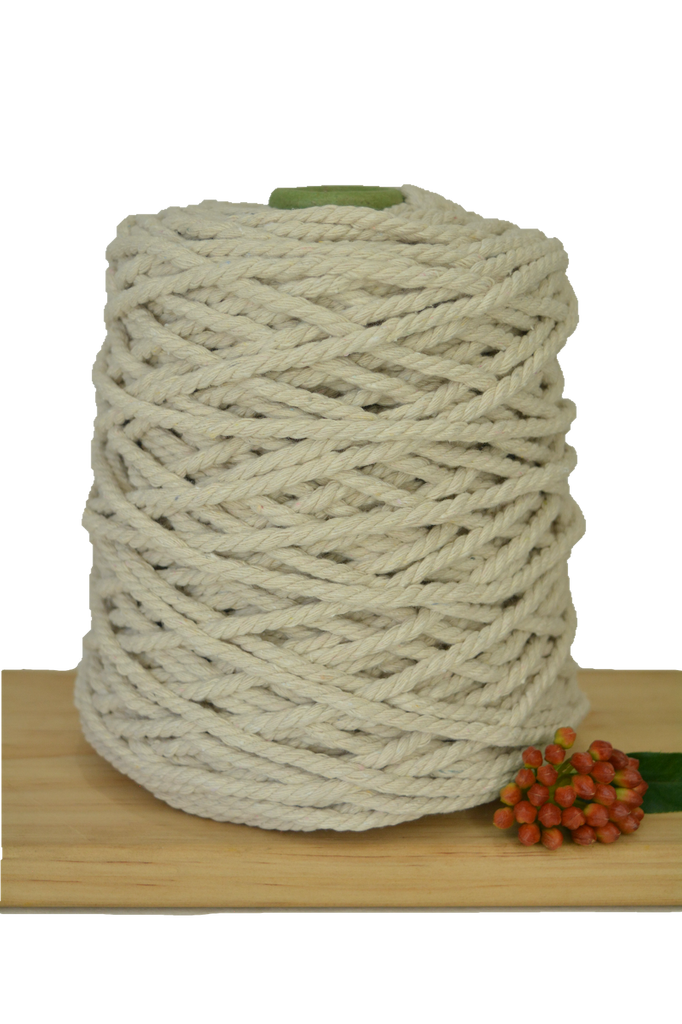 1kg Natural 3ply Cotton Rope - 6mm