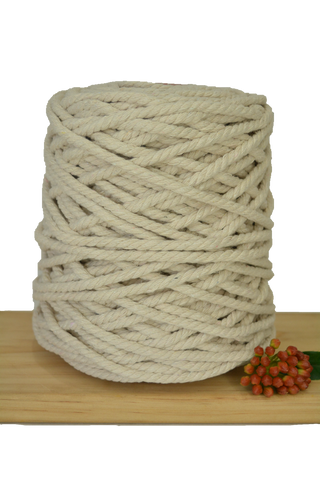 1kg Natural 3ply Cotton Rope - 7mm