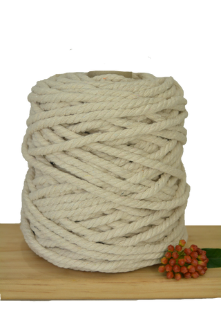 1kg Natural 3ply Cotton Rope - 9mm