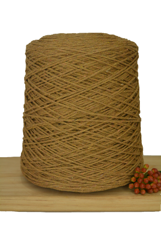 1kg Coloured 1ply Cotton Warping String - 1mm - Nutmeg