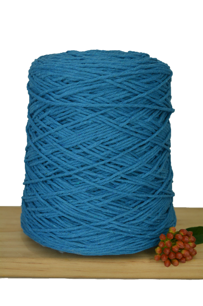 1kg Coloured 1ply Cotton Warping String - 1.5mm - Peacock