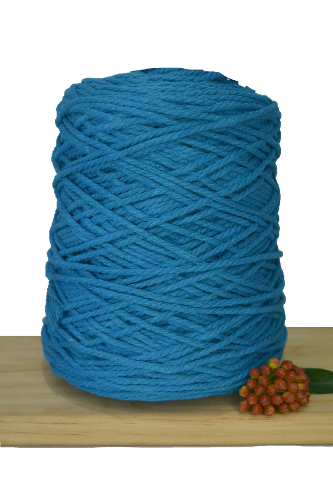 1kg Coloured 3 ply Cotton Rope - 3mm - Peacock
