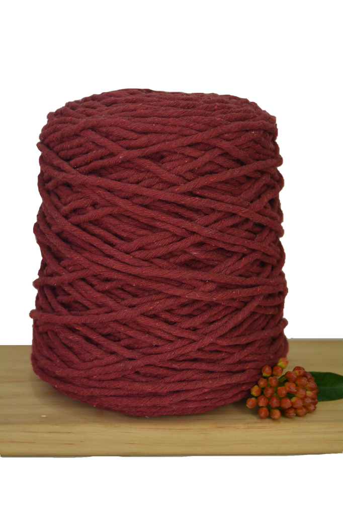 1kg Coloured 1ply Cotton String - 5mm - Red Wine