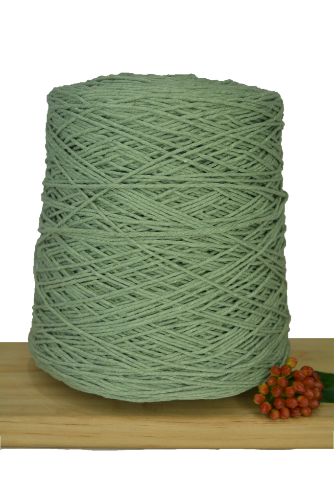 1kg Coloured 1ply Cotton Warping String - 1mm - Sage