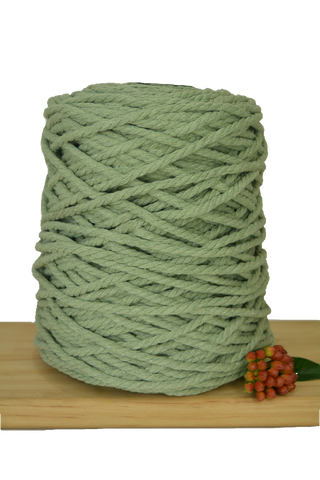 1kg Coloured 3 ply Recycled Cotton Rope - 5mm - Sage
