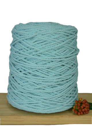 1kg Coloured 3 ply Cotton Rope - 3mm - Seafoam