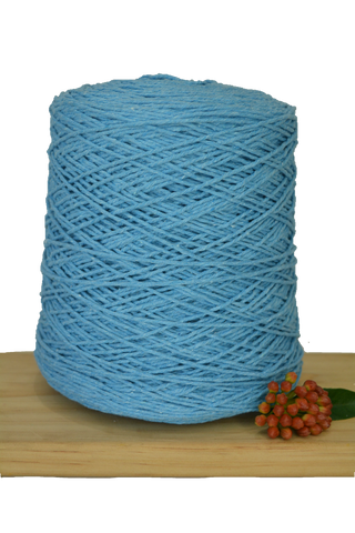 1kg Coloured 1ply Cotton Warping String - 1mm - Sky Blue