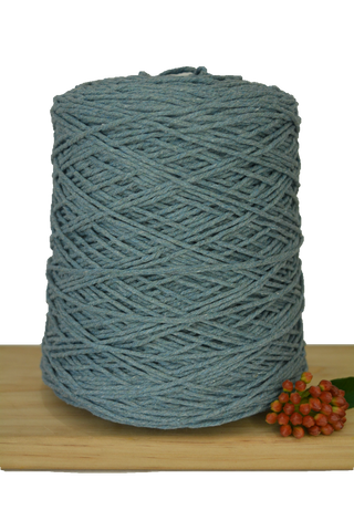 1kg Coloured 1ply Cotton Warping String - 1.5mm - Storm
