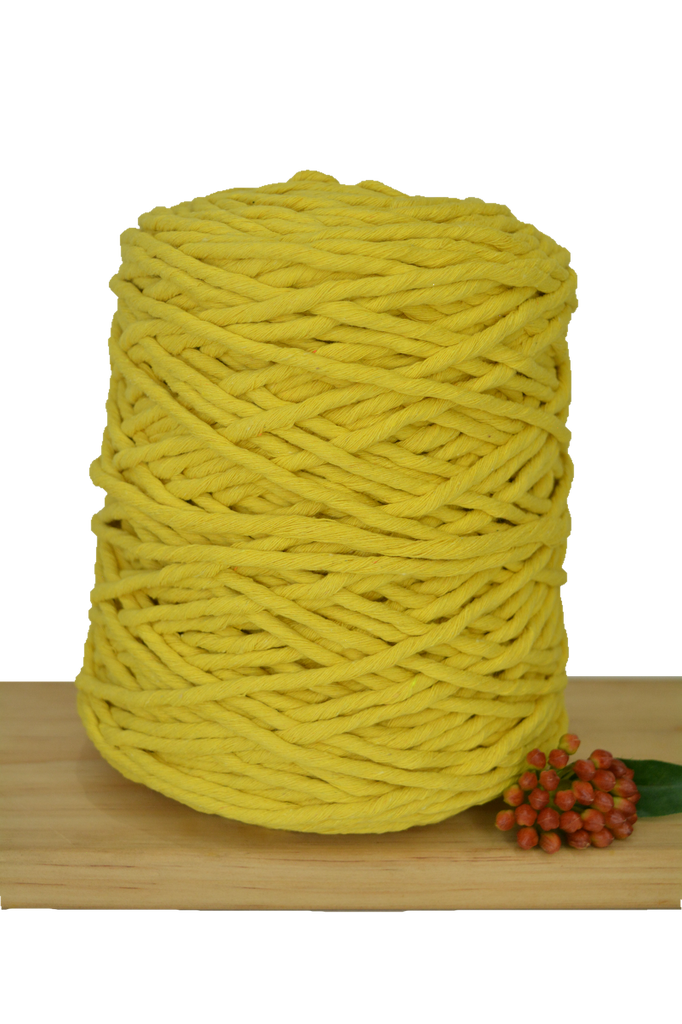 1kg Coloured 1ply Cotton String - 5mm - Sunshine