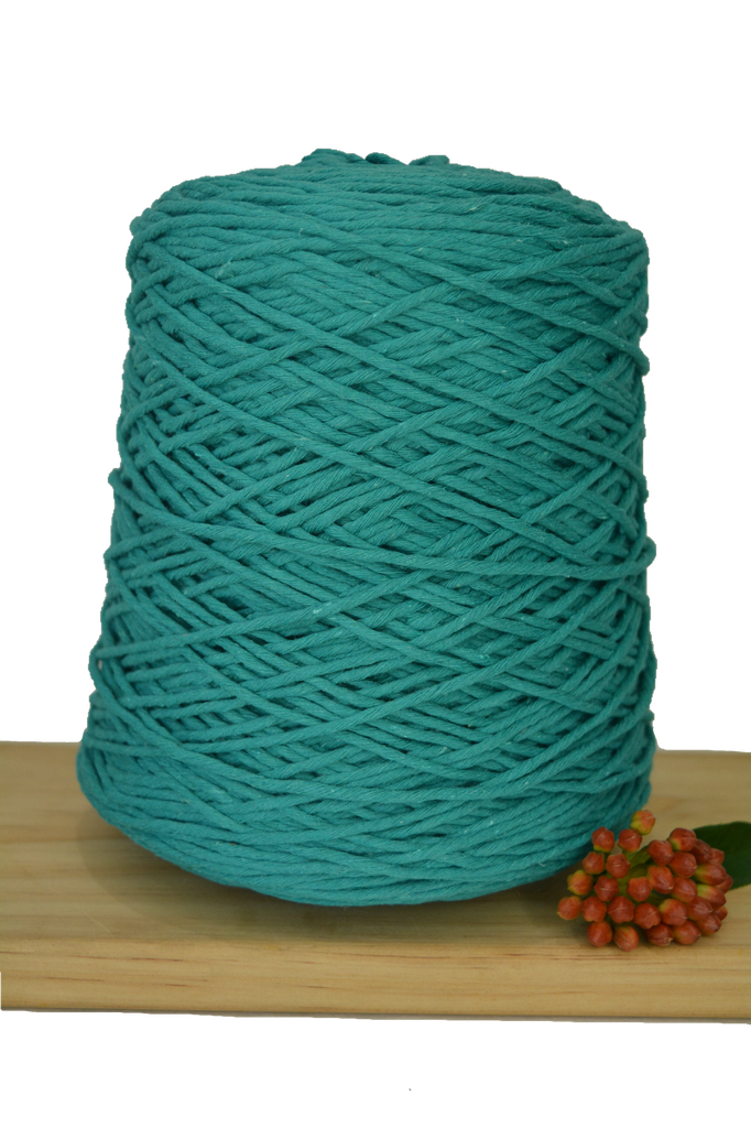 1kg Coloured 1ply Cotton Warping String - 1.5mm - Teal
