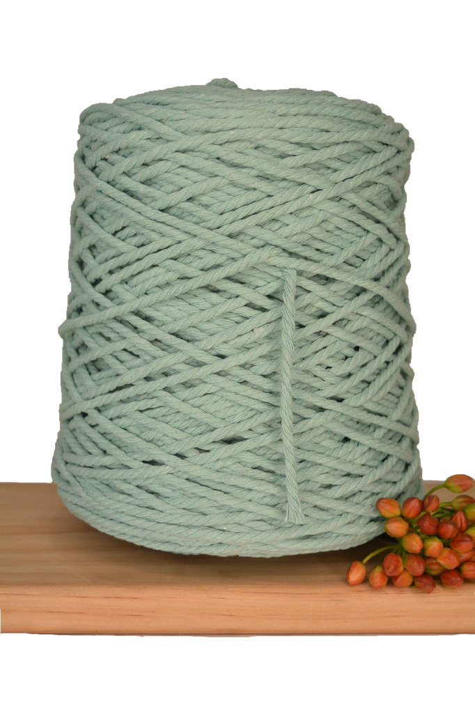 1kg Coloured 3 ply Cotton Rope - 3mm - Turquoise