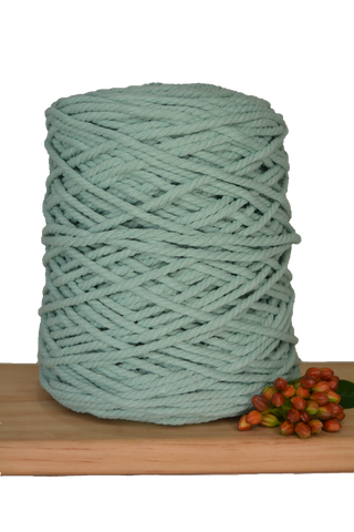 1kg Coloured 3 ply Recycled Cotton Rope - 4mm - Turquoise