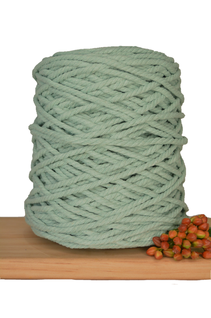 1kg Coloured 3 ply Recycled Cotton Rope - 5mm - Turquoise